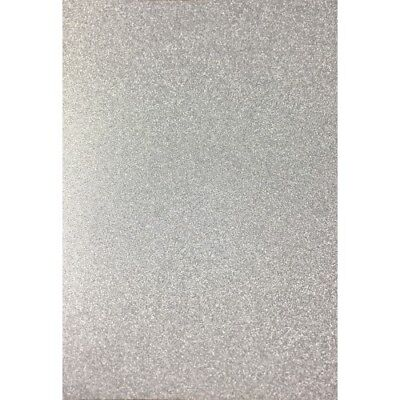 A4 Silver Glitter Card Low Shed x 10 sheets