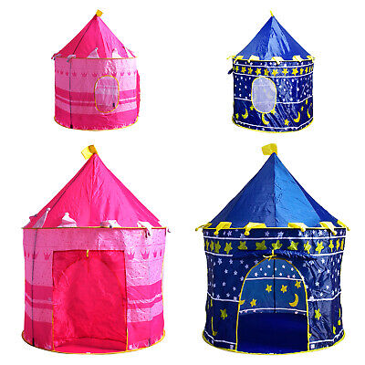 Kids Pop Up Wizard Princess Castle Playing Tent Indoor Outdoor Playhouse Fun Toy