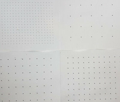 Clear A4 Square Dot Scaling Sheet 5, 10, 12.7, 20, 25mm Spacing - 1, 5, 10 Packs