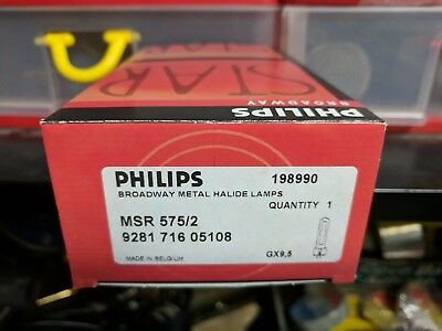 Phillips MSR575/2 198990 Stage Lamp -NEW- BROADWAY 9281 716 05115 -