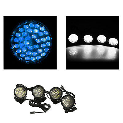 SS 4x 36-LED/light Bright Spotlight Underwater Submersible for Garden Fountain P