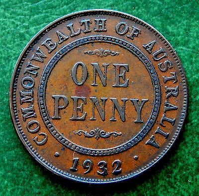 1932 Commonwealth of Australia One Penny Coin  KM#23  SB2379