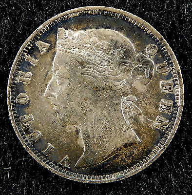 """1895 British Honduras 25 Cents Silver Coin KM#9 Uncleaned """"Higher Grade""""  SB3318"""