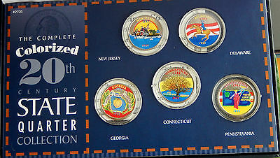 1999 USA Colorized State Quarter 25 Cents Collection Set SBS003