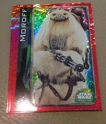 Star Wars Rogue One Holographic Foil card 186 Moroff
