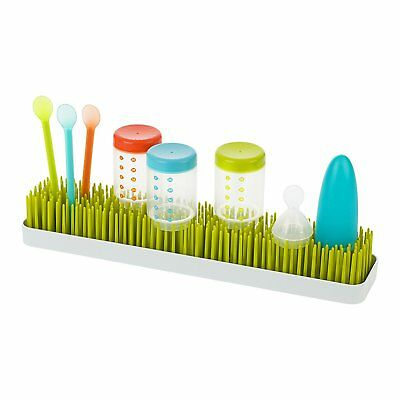 Boon Patch Grass Countertop Drying Rack Baby Bottle Utensils Lawn Kitchen Clean