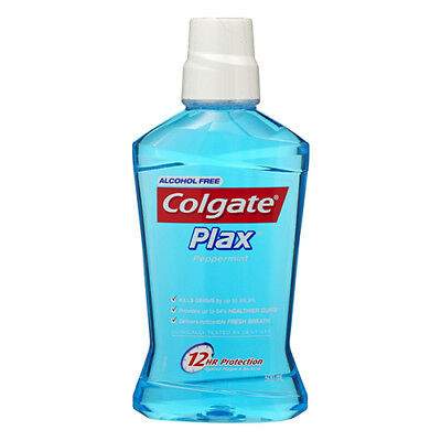 NEW Colgate Mouthwash Plax Peppermint 500mL Dental Oral Care Wash