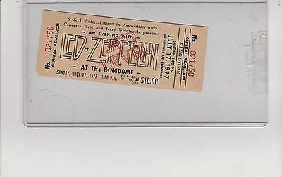 1977 Led Zeppelin Seattle Full Unused Ticket Super Rare Full  Not A Cheap Copy!!