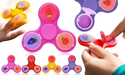 Fidget Finger Spinner Bright Coloured with Fruity Juicy 3 Flavoured Lip Balm