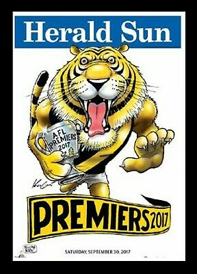 2017 AFL PREMIERS GRAND FINAL RICHMOND PREMIERSHIP WEG MARK KNIGHT POSTER Framed