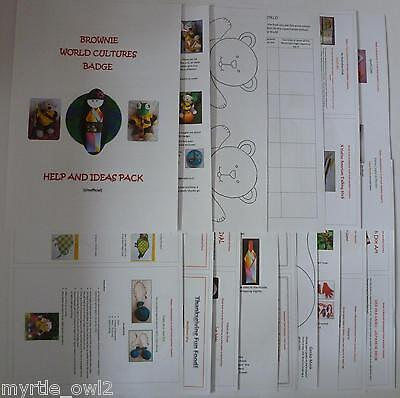 UK Brownie Guide - World Cultures Badge  - Help & Ideas Pack