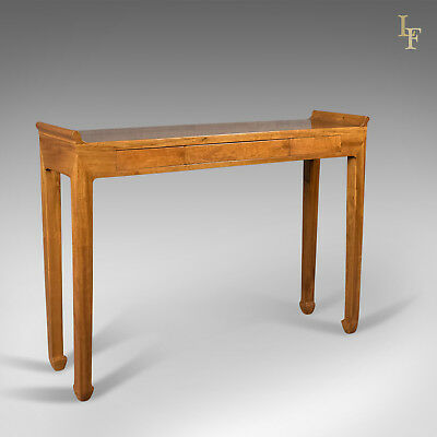 Mid Century Hall Console Table, Oriental Alter Table in Cherry, c.1970
