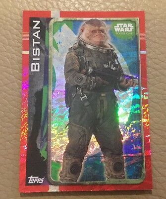 Star Wars Rogue One Holographic Foil card 173 Bistan