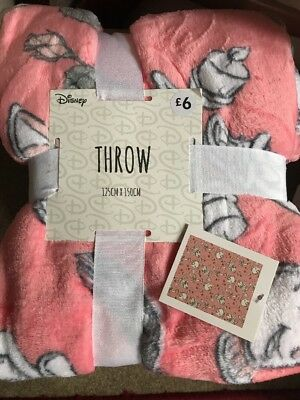 Beauty And The Beast Throw Blanket Primark Bed FLEECE Chip And Mrs Potts Disney