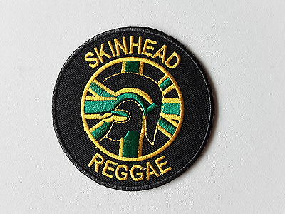 Skinhead reggae rudeboy ska embroidered iron or sew on patch