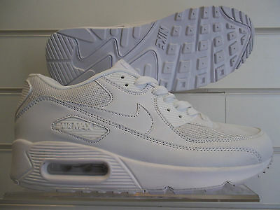 Nike Mens Air Max 90 All White New Style Running Training Shoes Gym Over 50% Off