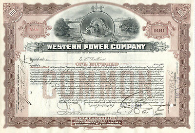 Alte Aktie des Energieversorgers Western Power Company USA 1911