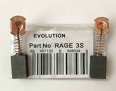 Genuine CARBON BRUSHES 030-0254 Evolution RAGE3-S 210mm Sliding Mitre saw T25G
