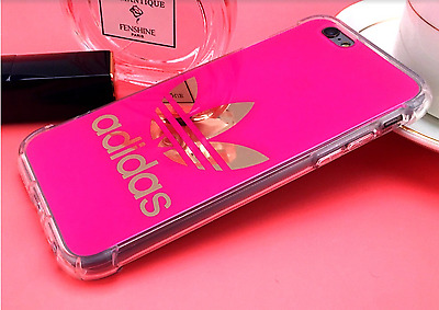 Pink Hard Plastic Adidas  Logo Phone Cases for iPhone 6/6S