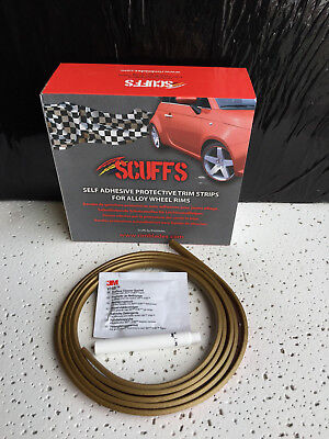 GOLD SCUFFS by Rimblades Car Tuning Alloy Wheel Rim Protectors 1 STRIP ONLY