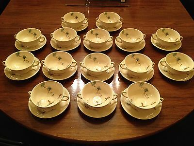 Royal Doulton The Coppice Two Handled Soup Coupe And Saucer