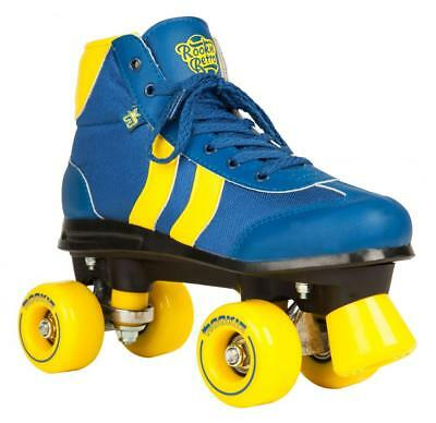 Rookie Retro V2  Adult Rollerskates Roller Quad Skates - Blue/Yellow Size 6
