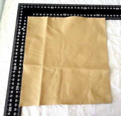 Brand New TAN 24x22cm,1 Piece GENUINE LEATHER-SCRAPS, OFF CUTS for CRAFTS