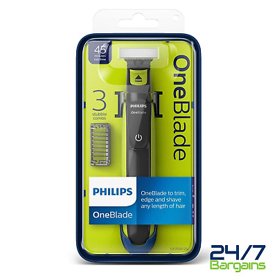 Philips Qp2520/25 Oneblade Rechargeable Facial Trim Edge Shave Hair Trimmer