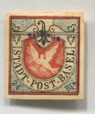SWITZERLAND BASEL Sc 3L1 DOVE old FAKE early FORGERY FORGERIE (CV$13,500)# 44940