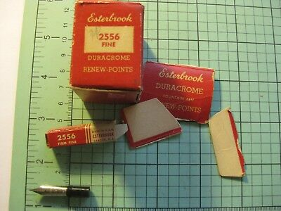 Esterbrook Renew-Point 2556 Firm Fine Nib In Box  with larger retail box