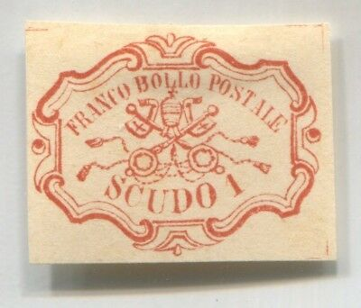 ROMAN ITALY STATE rare EARLY FAKE old Forgery value SC#11 STAMP FORGERIE # 44811