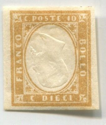 SARDINIA ITALY STATE old INVERTED CENTER ERROR VARIETY EARLY FAKE Forgery #44872