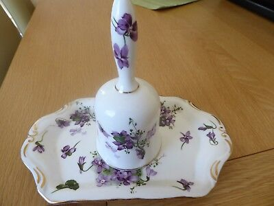 Hammersley  Matching Victorian Violets Bell And Tray