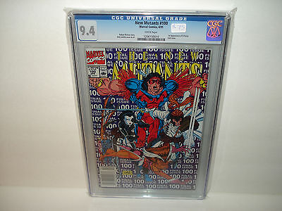 The New Mutants #100 CGC 9.4  First Appearance of X-Force White Pages  Key Book