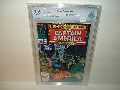 Captain America #360  CBCS  9.6  First Appearance of Crossbones !!! White pages