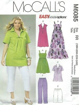 McCall's 6085 Women's Dresses, Shorts and Capri Pants    Sewing Pattern