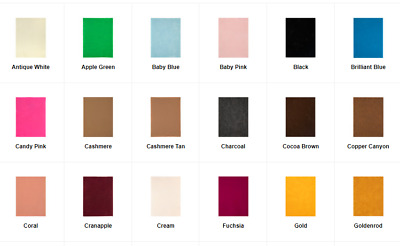 """NWT Soft Felt Sheet 1 or 2 mm Various Solid Colors 9x12"""" New Colors Added!"""