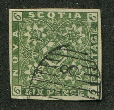 NOVA SCOTIA CANADA rare EARLY FAKE old Forgery STAMP FORGERIE # 50782