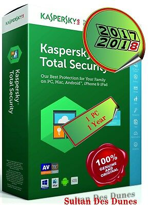 Kaspersky Total Security 1 Device - 1YEAR -