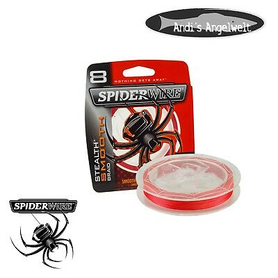 Spiderwire Stealth Smooth 8 RED - Angelschnur 8 fach geflochten 150 m