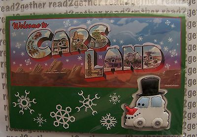 Disney Pin Welcome to Cars Land Snow Car Free D Holiday