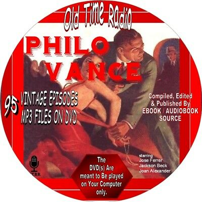 Philo Vance Old Time Radio Show - 95 Vintage Episodes - Mp3 On Dvd  - Mystery