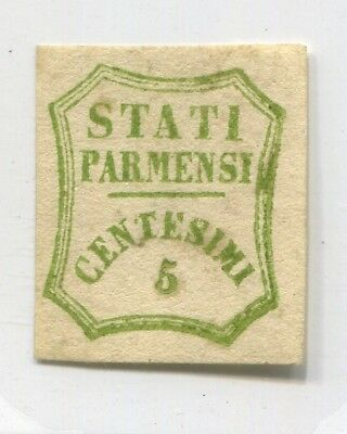 PARMA ITALY STATE old rare EARLY FAKE Forgery FORGERIE VALUE STAMP # 58587