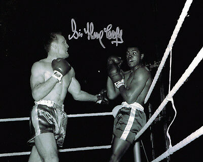 Henry Cooper SIGNED Vs. Muhammad Ali Boxing Fight 10x8 Photo AFTAL COA Autograph