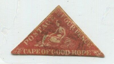 CAPE of GOOD HOPE rare EARLY FAKE old Forgery TRIANGLE ERROR COLOR STAMP 50442