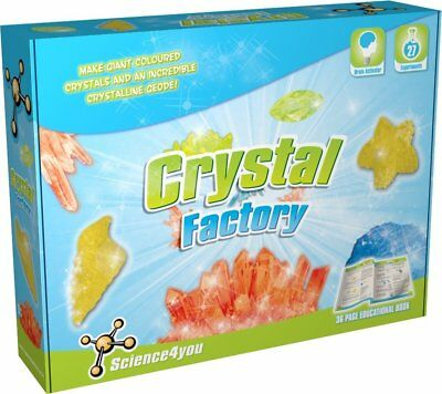 Chemistry Set Crystal Factory Science 27 Experiments Age 8+ Science4you