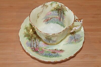 """Aynsley Cup and Saucer """"Bluebell Time By The Acreage"""""""