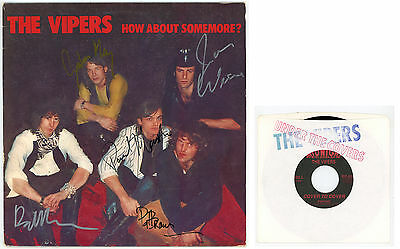 "garage USA : The VIPERS : How About Somemore? - LP + 7"" USA 1988 - Autographed"
