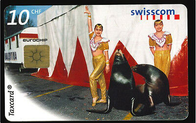 Suisse Taxcard  - cirque -  phone card used -