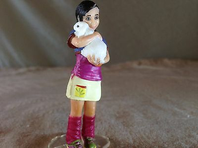 The Holiday-Maker GIRL HUGGING BUNNY! Schleich 13902: Only 1 Avail on eBay USA?!